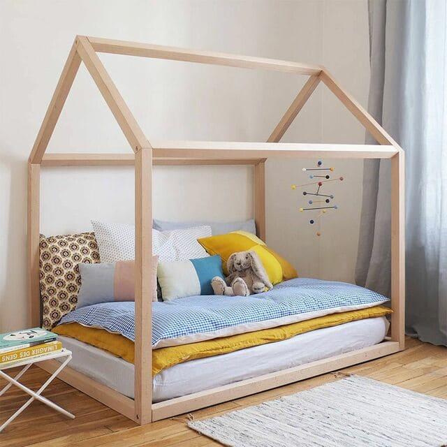 Giường gỗ trẻ em