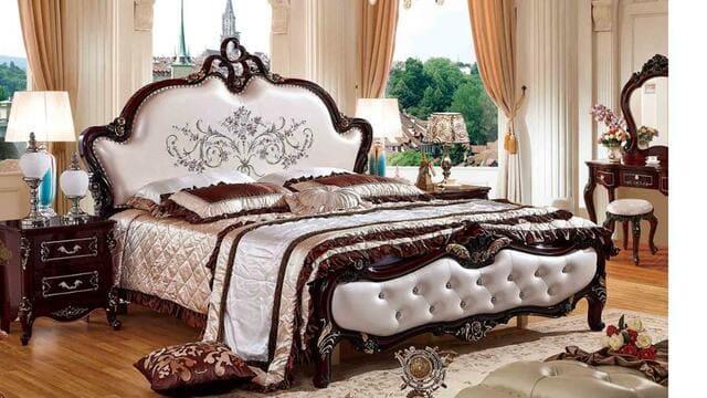 Giường cưới gỗ tự nhiên