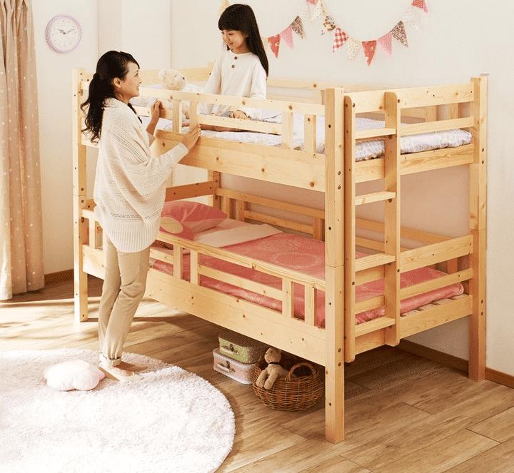 Giường gỗ thông cho trẻ em
