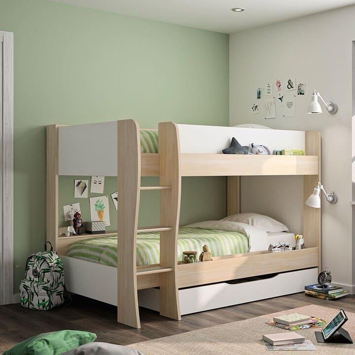 giường tầng gỗ thông cho trẻ em