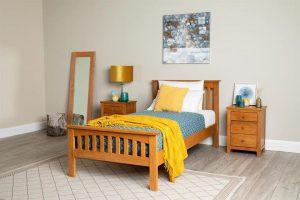 giường gỗ sồi Mỹ
