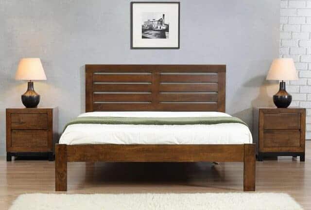 Mẫu giường gỗ đơn giản