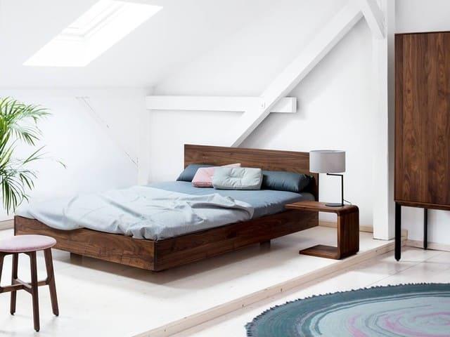 Mẫu giường gỗ đẹp đơn giản