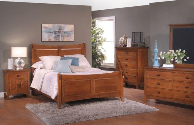 giường gỗ sồi đỏ