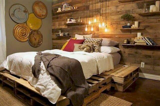 giường gỗ Pallet
