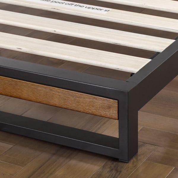 Chân giường gỗ keo khung sắt chân thấp