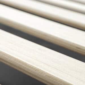 Nan giường gỗ keo khung sắt KK01