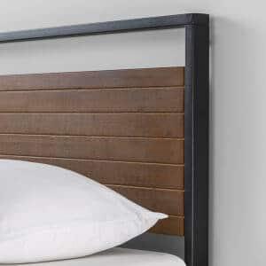 Phần đầu giường của giường gỗ keo khung kim loại KK01
