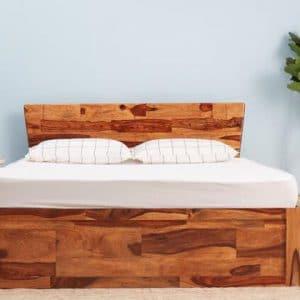 Giường 1m6 x 2m gỗ tự nhiên độc đáo
