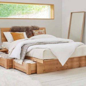 Giường 1m6 x 2m có ngăn kéo kiểu Nhật