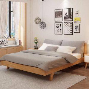Giường 1m6 x 2m kiểu Nhật đơn giản
