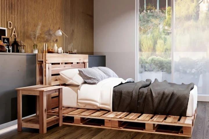 Giường gỗ Pallet giá rẻ dưới 1 triệu