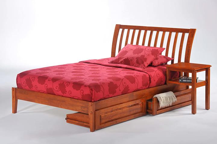 Giường gỗ đinh hương 1m2