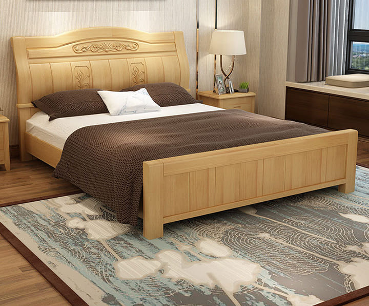 Giường gỗ dổi