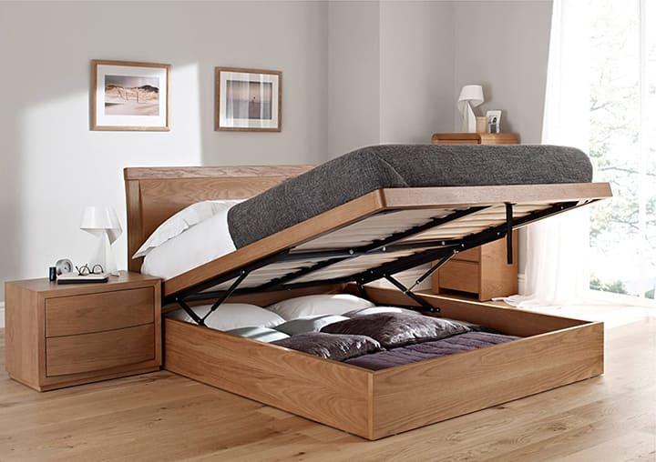 Giường gỗ ngăn lưu trữ thông minh