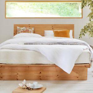 Giường 1m6 gỗ tự nhiêu kiểu Nhật