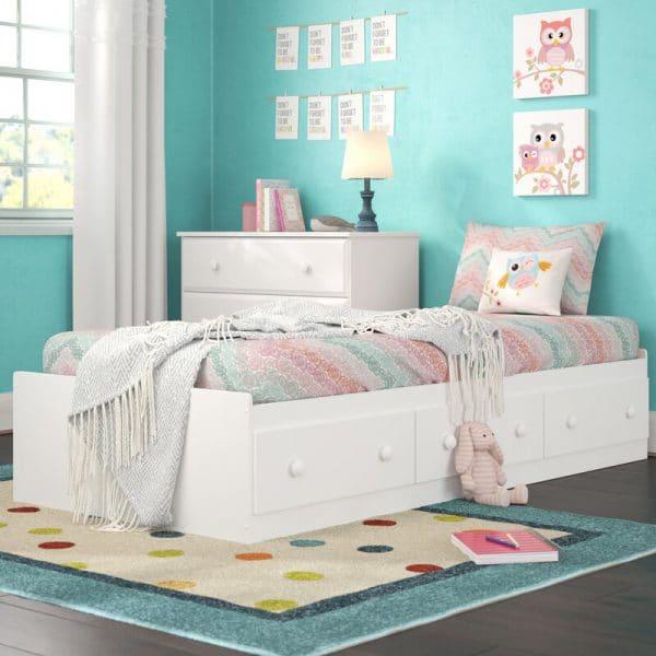 Giường hộp có ngăn kéo cho trẻ em