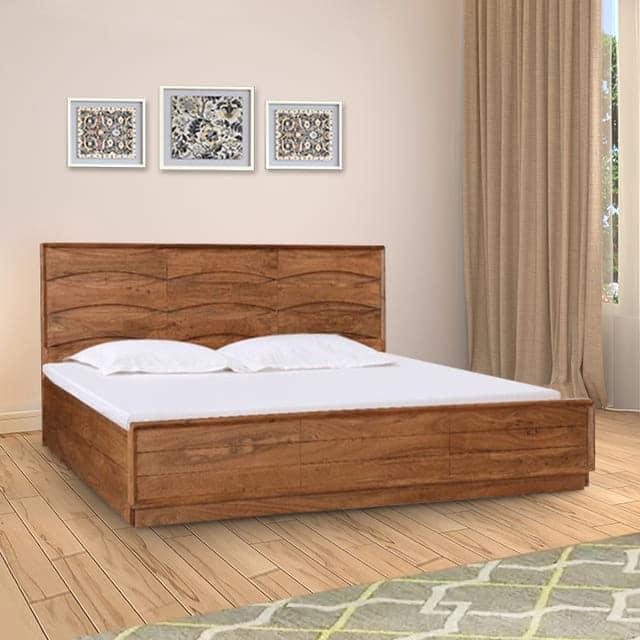 Giường hộp gỗ keo