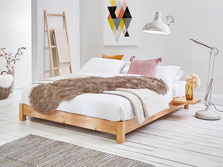 Mẫu giường gỗ kiểu Nhật giá rẻ dưới 2 triệu
