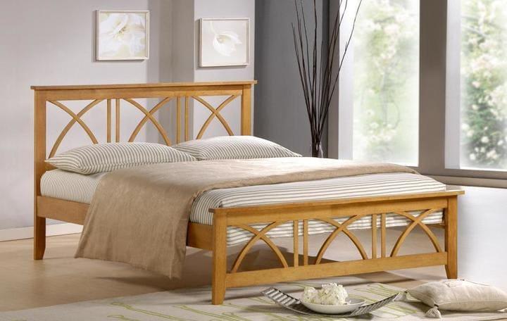 Giường ngủ tân cổ điển gỗ sồi
