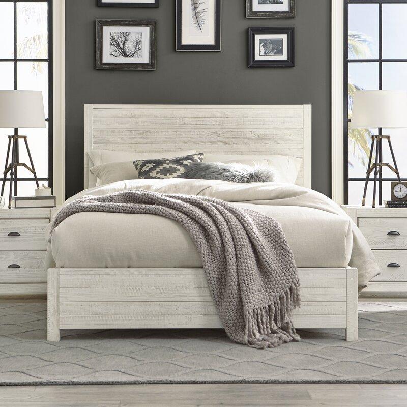 Giường ngủ tân cổ điển gỗ keo sơn trắng