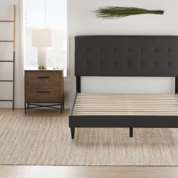 giường ngủ bọc da khung gỗ tự nhiên BN02