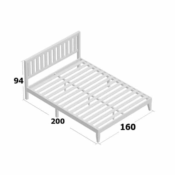 Kích thước giường gỗ keo 1m6x2m