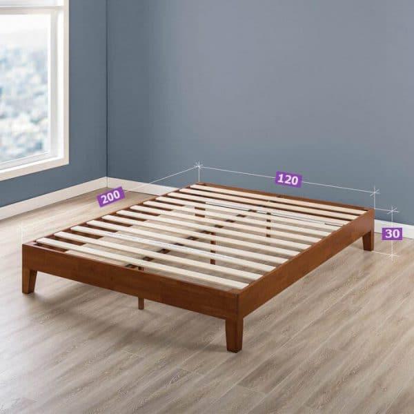 kích thước giường gỗ thông 1m2
