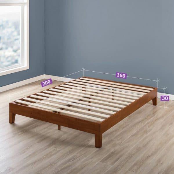 Kích thước giường gỗ thông 1m6