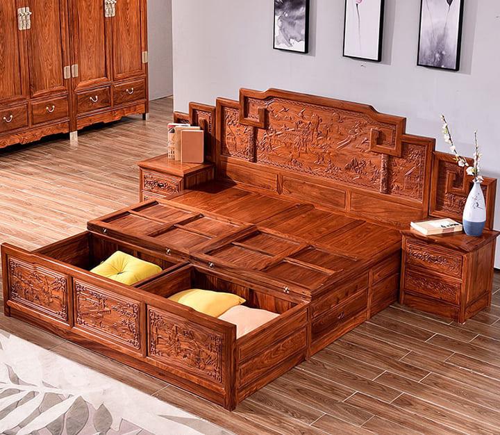 giường gỗ đinh hương