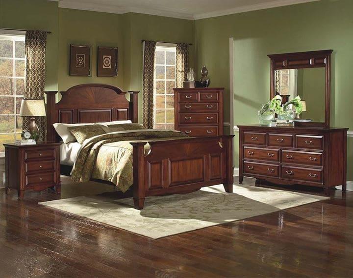 Mẫu giường gỗ cổ điển