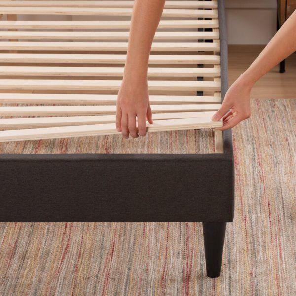 Nan giường ngủ bọc da khung gỗ tự nhiên BN02