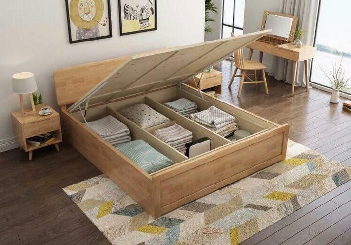 giường hộp có ngăn phụ
