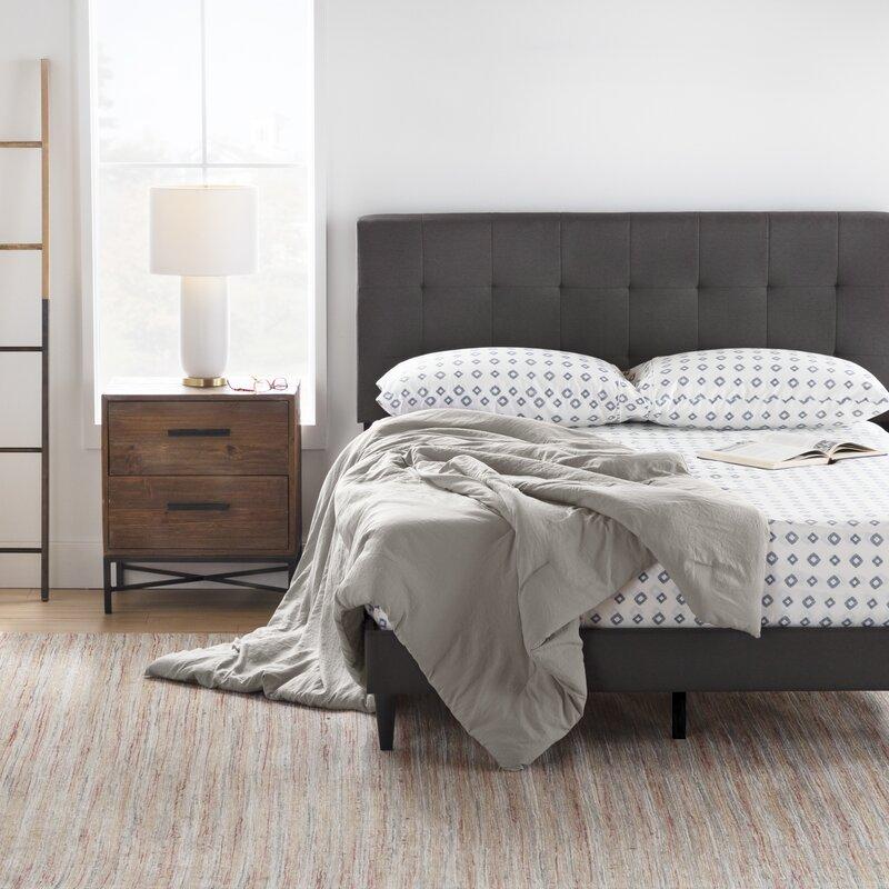 Sự đặc biệt cửa giường bọc nêm khung gỗ BN02