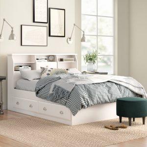giường ngủ có ngăn kéo gỗ keo KT04