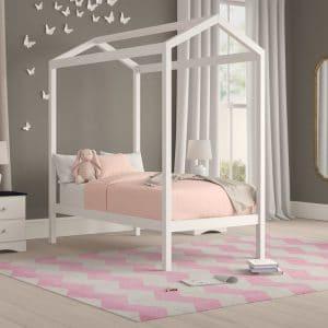 Sản phẩm giường ngủ rẻ em gỗ keo trắng KT02