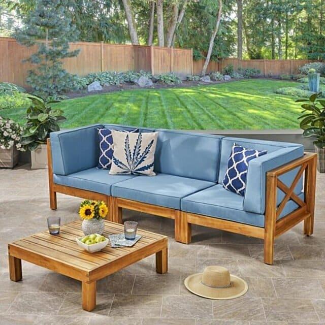 Sofa bằng gỗ keo