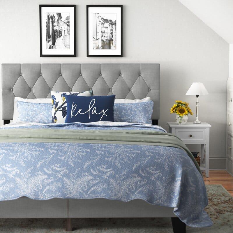 Thiết kế của giường bọc nệm BN01