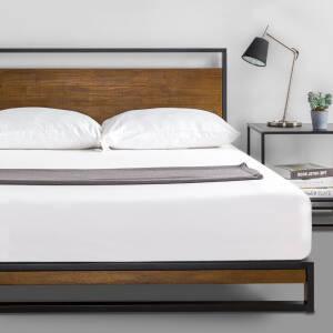 Thiết kế của giường gỗ keo khung sắt KK01