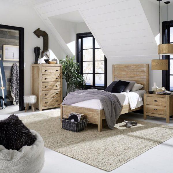 Giường gỗ keo 1m2x2m tân cổ điển KT05