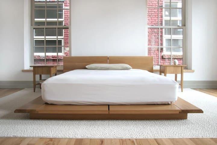 giường bệt gỗ sồi