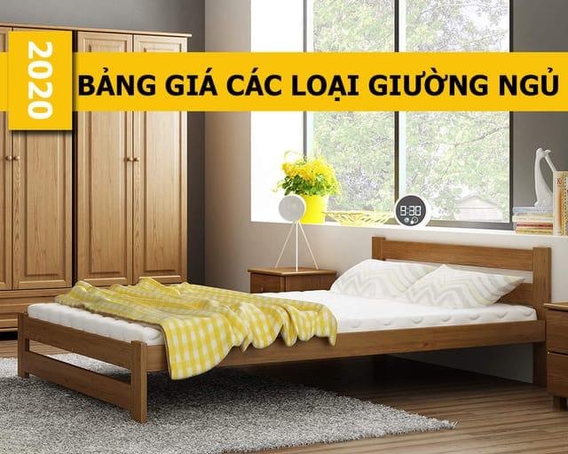 bảng giá các loại giường ngủ