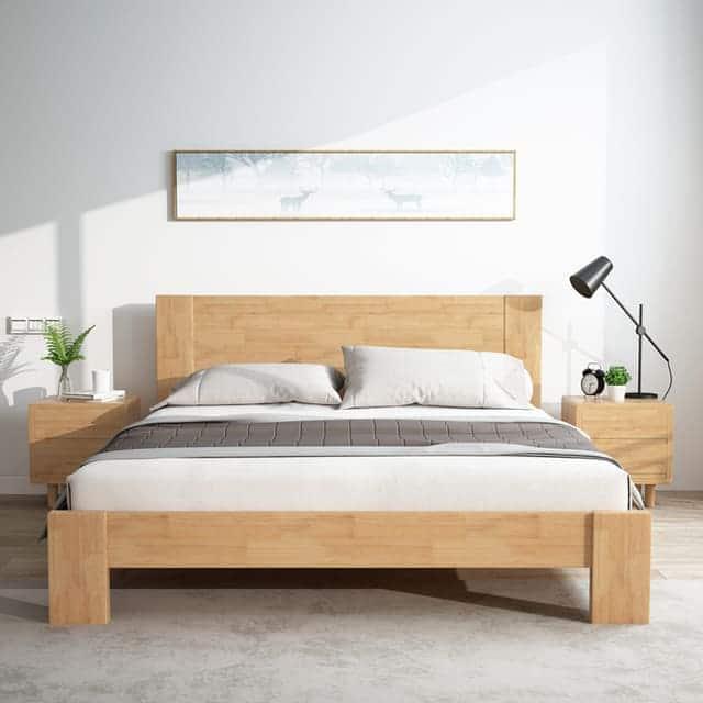 giường gỗ công nghiệp đơn giản