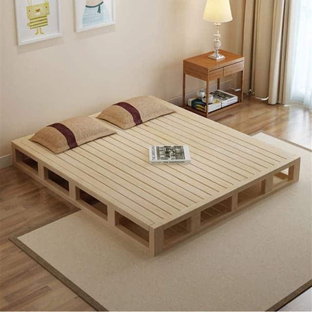 Dát giường làm bằng gỗ sồi tự nhiên