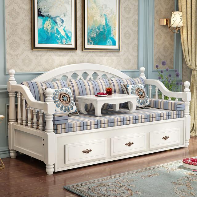 Ghế gỗ dài kéo ra thành giường