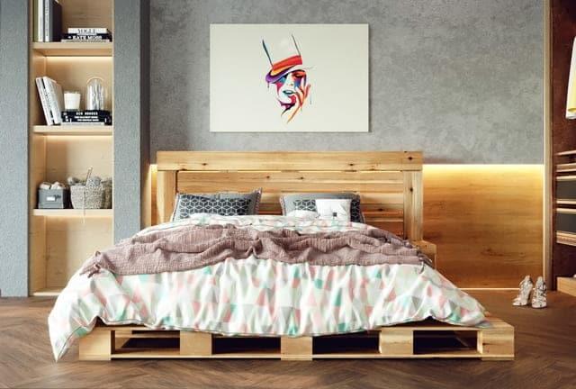 Giá giường ngủ gỗ Pallet