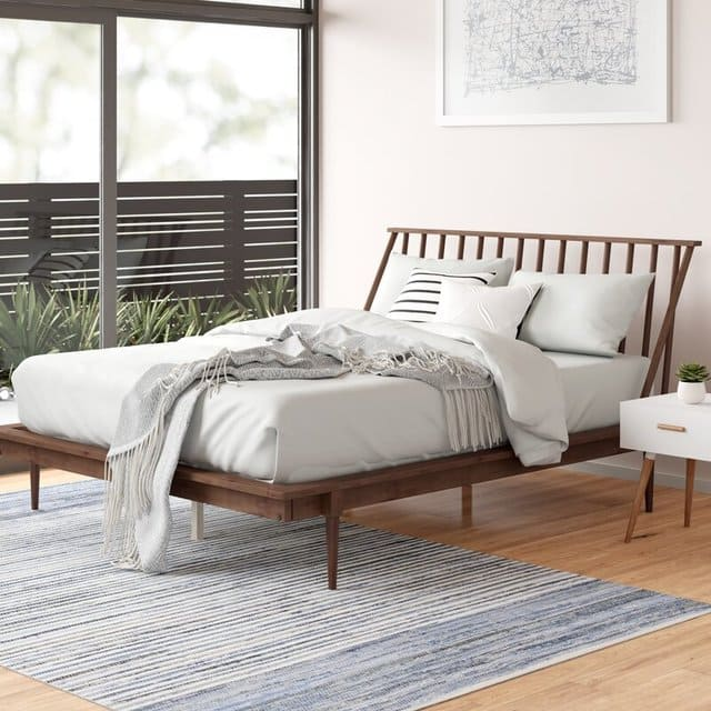 Giường MDF phong cách tối giản
