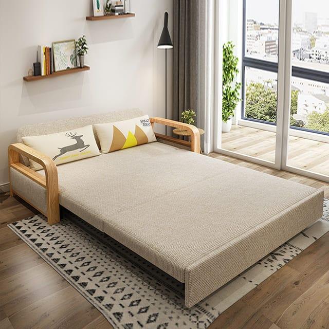 Giường gấp gỗ thông minh phù hợp với chung cư hay căn hộ