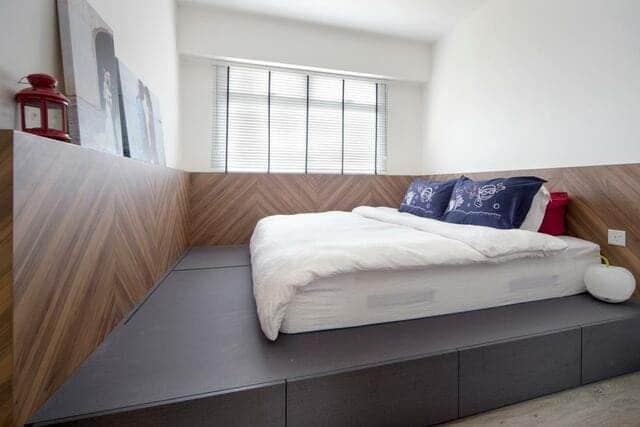 Giường gỗ công nghiệp có ngăn kéo