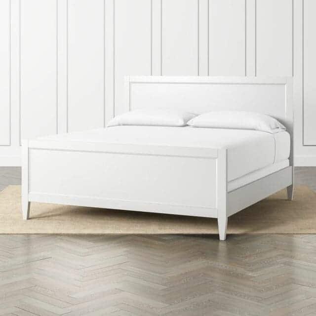 giường gỗ công nghiệp trắng